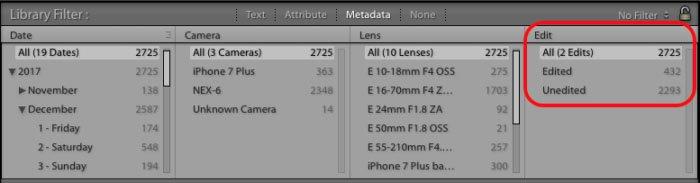 Filtro para fotos editadas